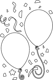 Birthday balloon clipart black and white ClipartFest
