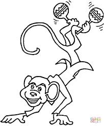Monkey Is Playing Maracas