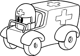 скорой помощи раскраски Kidre