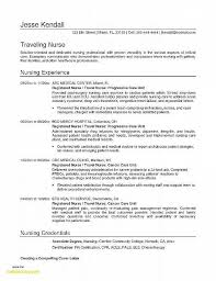 Sample Nurse Resume Template Lovely Nursing Rn Bsn