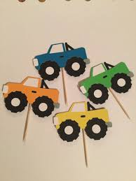 Set Of 12 Monster Truck Cupcake Toppers | Cupcake Toppers ... Personalised Monster Truck Edible Icing Birthday Party Cake Topper Buy 24 Truck Tractor Cupcake Toppers Red Fox Tail Tm Online At Low Monster Trucks Cookie Cnection Grave Digger Free Printable Sugpartiesla Blaze Cake Dzee Designs Jam Crissas Corner Cake Topper Birthday Edible Printed 4x4 Set Of By Lilbugspartyplace 12 Personalized Grace Giggles And Glue Image This Started