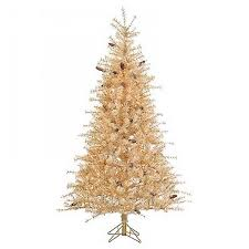 Sterling 75ft Pre Lit Artificial Christmas Tree Full Gold Tip Cashmere Clear Lights