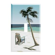 Beach Chair Under Palm Tree Switchplate - Switch Plate Cover ...