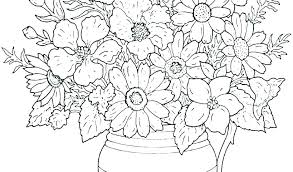 Free Printable Coloring Book Pages Flowers Blank