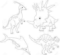 Livre De Coloriage De Tyrannosaure Pour Le Vecteur Dadultes