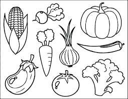 Printable Fruit Coloring Pages Basket To Print Fruits Apple For Kids Easy And Vegetable