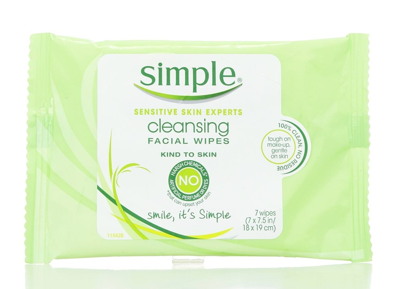 Simple Cleansing Facial Wipes - 7 Sheets