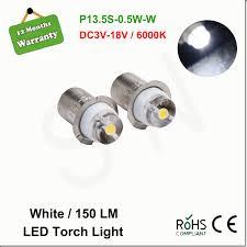 2pcs newest 0 5w 150 lm p13 5s pr2 pr3 white 6000k maglite led