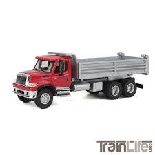 100 Red Dump Truck HO Scale International 7600 Heavyduty TrainLifecom