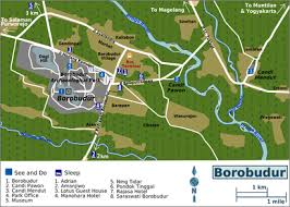 Map Of The Borobudur Area
