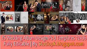25 Latest Wedding Album Design Psd Templates Free Download 12x36
