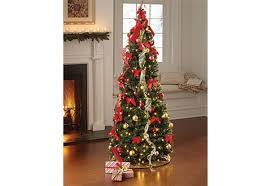 Black Pre Lit Pop Up Christmas Tree by Pop Up 6ft Led Christmas Tree Sharper Image
