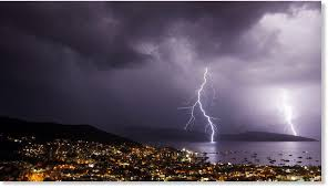 Lighning Witnessed Over The City Of Bodrum In Turkey