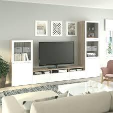 best tv möbel glastüren hellgrauer walnuss effekt