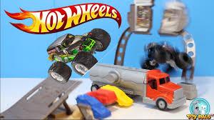 100 Monster Truck Grave Digger Videos For Kids HOT WHEELS MONSTER JAM Toys Crashes Toypalstv