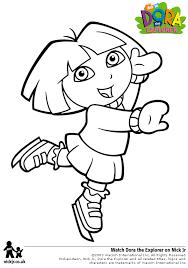 Dora Coloring Pages Skating Disney Princess Book Games