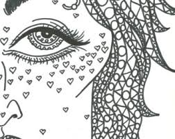 Adult Coloring Book Trippy Babes HD Digital Download 5