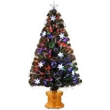 National Tree Company 4 Ft Fiber Optic Fireworks Artificial Christmas With Snowflakes