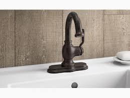 Kohler Bathroom Sink Faucets Single Hole by K R76255 4d Worth Single Handle Bathroom Faucet Kohler