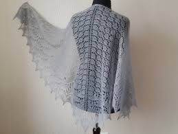 knitted grey mohair shawl evening shawls wraps hand knitting