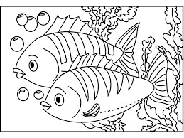 Simple And Cute Fish Coloring Pages