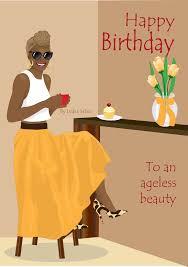 Coffee Clipart Happy Birthday Women Beautiful Black Woman