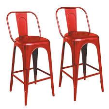 dynamic24 barhocker 2 st 2er set 2x metall barstuhl barhocker bar küche tresen stuhl stühle hocker esszimmer rot kaufen otto