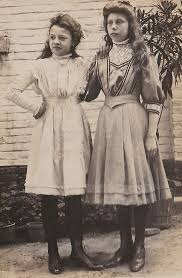 Two Teenage Girls Early 1900