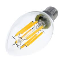 6w c35 edison base e14 led filament bulbs chandelie led bulb