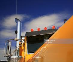 100 Semi Truck Exhaust Top Of Yellow Truck Cab With Air Cleaner And Pipe Stock