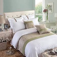 osvino bettläufer leinen feuchtigkeitsbindend atmungsaktiv betttuch bett deko für sofa schlafzimmer hotel beige 240x 50cm für 180cm bett