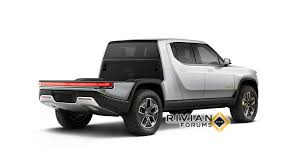 100 Pickup Truck Camper New Rivian R1T Renders Show Flatbed More