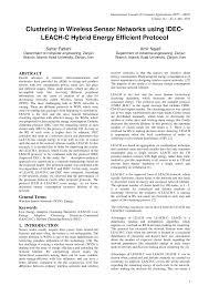 International U2013 Dead By Words by Clustering In Wireless Sensor Networks Using Idec Leach C Hybrid