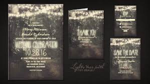 Lights Tree Path Wedding Invitation