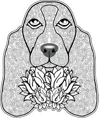 Free Printable Coloring Pictures Of Dogs Pages Dog Breeds Book Page Full Size