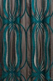 lovely teal patterned curtains and designer chic patterned kids