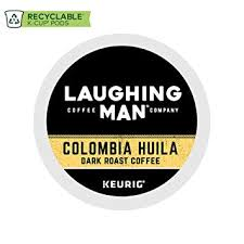 Laughing Man Colombia Huila Single Serve Coffee K Cup Pod Dark Roast