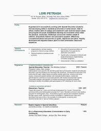 Resume For Fresh Graduate Unique Tutor Sample Teacher Example Best 0d Good