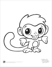 Cute Baby Animals Coloring Pages Printable Free Animal