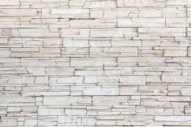White Stone Tile Texture Brick Wall Pixerstick Sticker