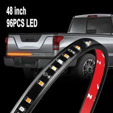 100 Led Truck Light Bar Amazoncom AUTUNEER 48inch LED Tailgate 96LEDs