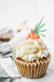 Carrot Cake Cupcakes With A White Chocolate Garnish