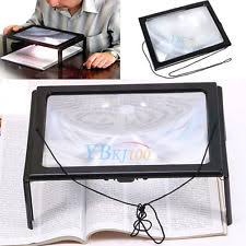 Lighted Full Page Magnifier Lamp by Magnifying Reading Lamp Ebay