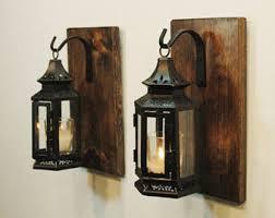 Black Stagecoach LanternsFarmhouse Kitchen Decor Livingroom Rustic Lantern Wall