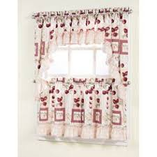 Owl Kitchen Curtains Walmart by Better Homes And Gardens Rooster Tier Curtain And Valance Set