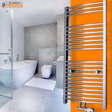 gulfstream komfort badheizkörper handtuchwärmer heizkörper bad chrom gold anthrazit weiß schwarz 1800 x 600 mm chrom gebogen