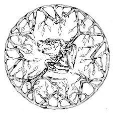 Dessin De Coloriage Mandalas Animaux à Imprimer CP17116