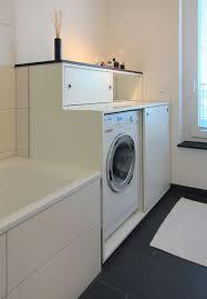 schrank für die waschmaschine im bad modern badezimmer