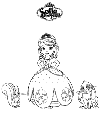 Sofia The First Whatnought And Clover Coloring Page