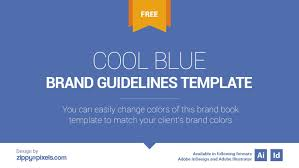 100 Cool Blue Design Free Brand Book Template On Behance